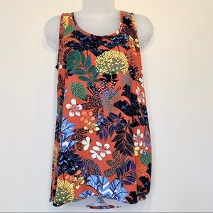 60's 70's Inspo Floral Pattern Tank Top